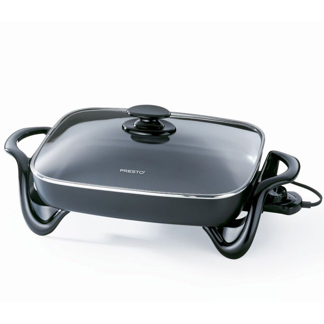 Cast Aluminum 16-inch Electric Skillet with Glass Lid