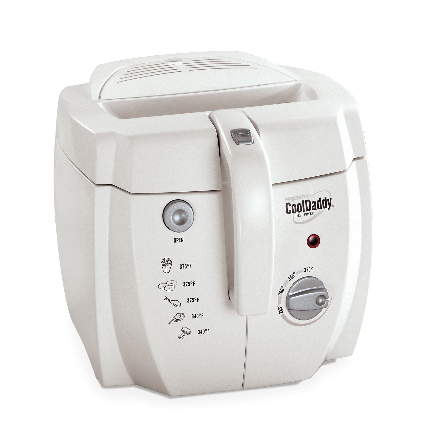 Presto Cool Daddy Deep Fryer, White