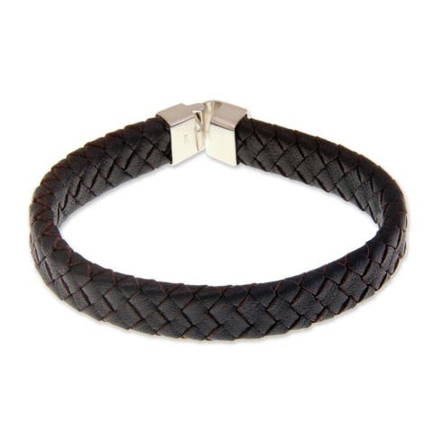Handmade Leather Steadfast Bracelet (Indonesia)