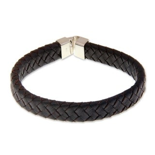 Men's Leather 'Steadfast' Bracelet (Indonesia)