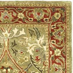 Safavieh Handmade Mahal Green/ Rust New Zealand Wool Rug (2' x 3') - Thumbnail 1