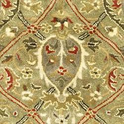 Safavieh Handmade Mahal Green/ Rust New Zealand Wool Rug (2' x 3') - Thumbnail 2
