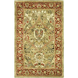 Safavieh Handmade Mahal Green/ Rust New Zealand Wool Rug (2' x 3')