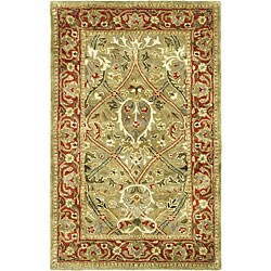 Safavieh Handmade Mahal Green/ Rust New Zealand Wool Rug - 2' x 3'