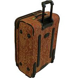 American Flyer Gold Paisley 4-piece Luggage Set - Thumbnail 1