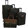American Flyer Lyon Black 4-Piece Luggage Set