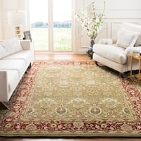 Safavieh Handmade Mahal Green/ Rust New Zealand Wool Rug - 8' x 8' Square