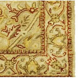 Safavieh Handmade Mahal Light Brown/ Beige N.Z. Wool Runner (2'6 x 12') - Thumbnail 1