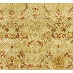 Safavieh Handmade Mahal Light Brown/ Beige N.Z. Wool Runner (2'6 x 12') - Thumbnail 2