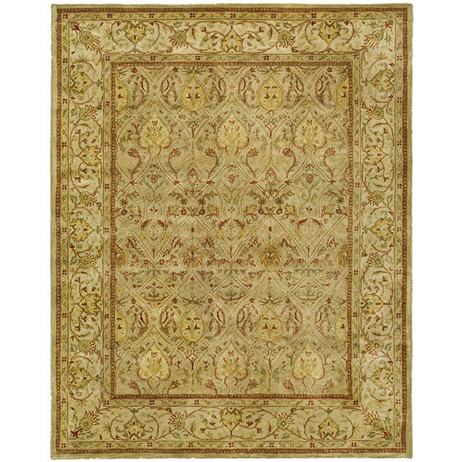 Safavieh Handmade Mahal Light Brown/ Beige New Zealand Wool Rug (6' x 9') - Thumbnail 0