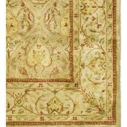 Safavieh Handmade Mahal Light Brown/ Beige N.Z. Wool Rug (7'6 x 9'6)