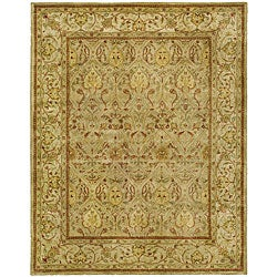 Safavieh Handmade Mahal Light Brown/ Beige N.Z. Wool Rug (7'6 x 9'6) - Thumbnail 0