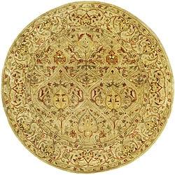 Safavieh Handmade Mahal Light Brown/ Beige New Zealand Wool Rug (8' Round)