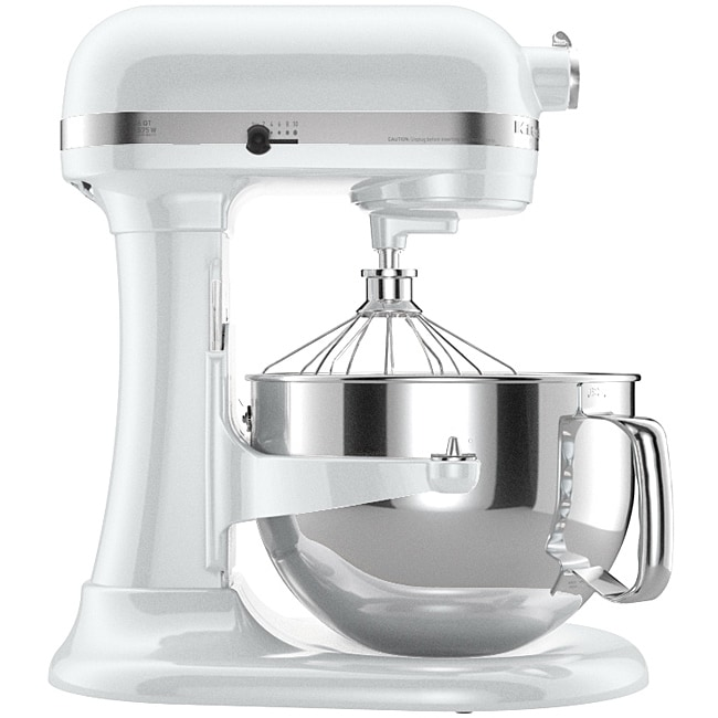 Kitchenaid Kp26M1Xwh White 6-Quart Pro 600 Bowl-Lift Stand Mixer