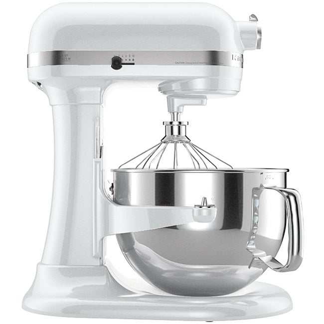 Shop Kitchenaid Kp26m1xwh White 6 Quart Pro 600 Bowl Lift