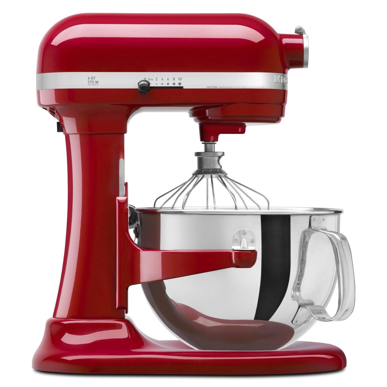 KitchenAid KP26M1XER Empire Red 6-quart Pro 600 Bowl-Lift Stand Mixer