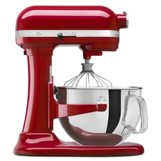 KitchenAid KP26M1XER Empire Red 6-quart Pro 600 Bowl-Lift Stand Mixer with $50 Rebate