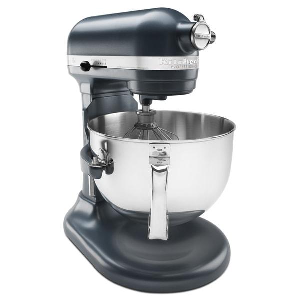 Holiday Prep With Kitchenaid Black Stainless Steel: Shop KitchenAid KP26M1XBS Blue Steel 6-quart Pro 600 Bowl-Lift Stand Mixer