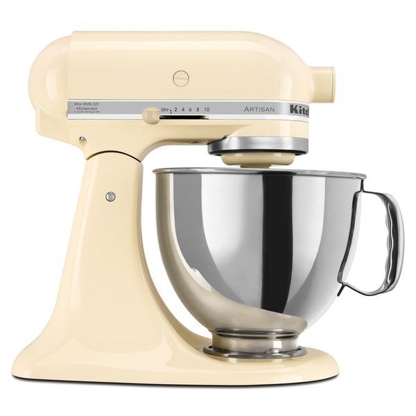 Shop Kitchenaid Ksm150psac Almond Cream 5 Quart Artisan