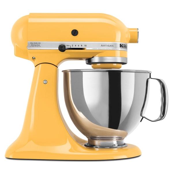 KitchenAid KSM150PSBF Buttercup Artisan Series 5-quart Stand Mixer