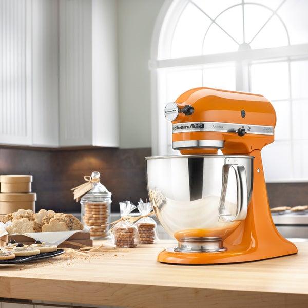 KitchenAid KSM150PSTG Tangerine 5-Qt. Tilt-Head Stand Mixer