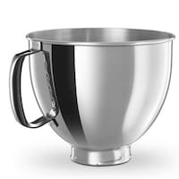 Shop KitchenAid K45SBWH Stainless Steel 4.5-quart Mixing Bowl with ...