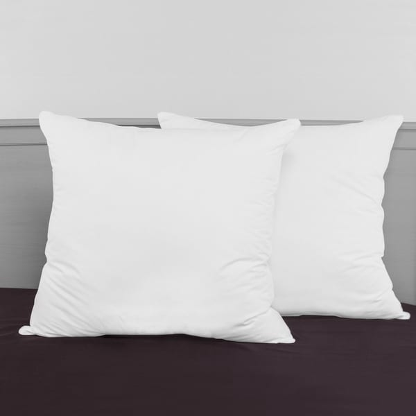 Shop SwissLux Decorator 40inch Euro Square Pillows Set Of 40 On Best 30 Inch Euro Pillow Inserts