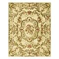 Safavieh Handmade Classic Ivory Wool Rug - 7'6 x 9'6