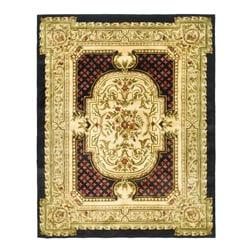 Safavieh Handmade Classic Black/ Beige Wool Rug - 9'6 x 13'6 - Thumbnail 0