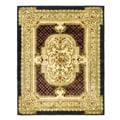 Safavieh Handmade Classic Black/ Beige Wool Rug (7'6 x 9'6)