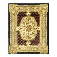 Safavieh Handmade Classic Black/ Beige Wool Rug - 8'3 x 11'