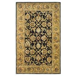 Safavieh Handmade Classic Black/ Gold Wool Rug (5' x 8')