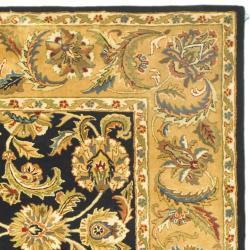 Safavieh Handmade Classic Black/ Gold Wool Rug (6' x 9') - Thumbnail 1