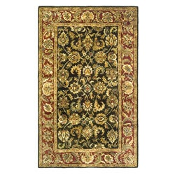 Safavieh Handmade Classic Dark Olive/ Red Wool Rug (4' x 6')