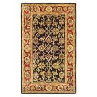 Safavieh Handmade Classic Dark Olive/ Red Wool Rug - 2'3 x 4'