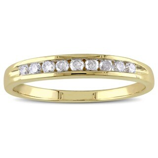 Miadora 14k Gold 1/4ct TDW Round Diamond Anniversary Ring (I-J, I2)
