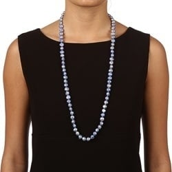 DaVonna Blue FW Baroque Pearl 36-inch Endless Necklace (10-11 mm)