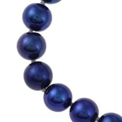 DaVonna Endless Blue-black Freshwater High Luster Pearl 35-inch Necklace (10 - 11mm)