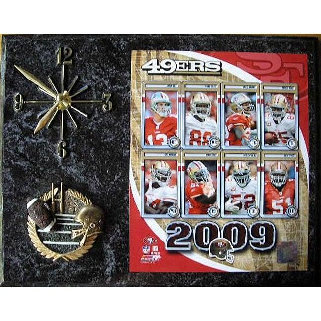 San Francisco 49ers Team Picture Plaque Clock