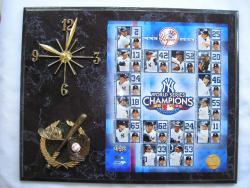 World Series Champion New York Yankees Picture Plaque Clock