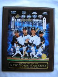 World Series Champion New York Yankees Core Four Picture Plaque - Thumbnail 1