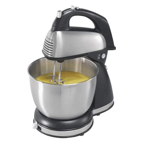 Hamilton Beach Stand/Hand Mixer with Stainless Steel Bowl