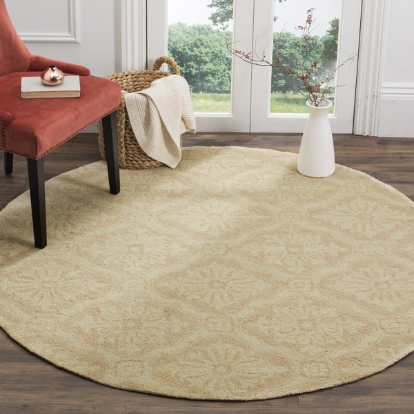 Safavieh Hand-hooked Lexington Ivory/ Cream Polypropylene Rug (6' Round)