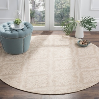 Safavieh Hand-hooked Lexington Ivory/ Cream Polypropylene Rug (8' Round)
