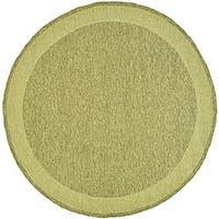 Safavieh Hand-hooked Easy Care Gabbeh Green Rug - 6' x 6' Round