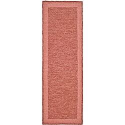 Safavieh Hand-hooked Easy Care Gabbeh Red Runner Rug (2' 6 x 10')