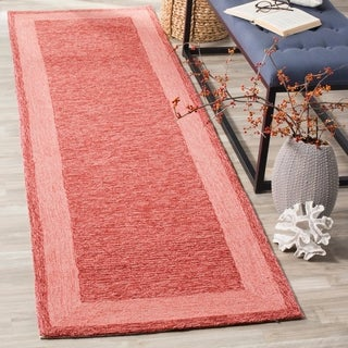 "Safavieh Hand-hooked Easy Care Gabbeh Red Runner Rug - 2'6"" x 10'"