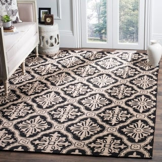 Safavieh Hand-hooked Lexington Ivory/ Black Polypropylene Rug (4' x 6')
