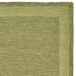 Safavieh Hand-hooked Easy Care Gabbeh Green Runner Rug (2' 6 x 10') - Thumbnail 1