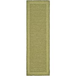 Safavieh Hand-hooked Easy Care Gabbeh Green Runner Rug (2' 6 x 10') - Thumbnail 0